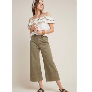 Anthropologie Pintucked Chino Pants